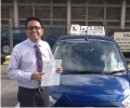 Kathik with Driving test pass certificate