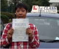 Karen with Driving test pass certificate