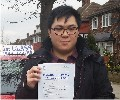 Jeremy with Driving test pass certificate