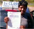 Adelaide with Driving test pass certificate
