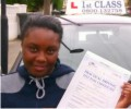 Sharena with Driving test pass certificate