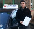 Faizan with Driving test pass certificate