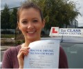 Kirsten with Driving test pass certificate
