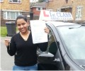Jasmin with Driving test pass certificate