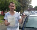 Rob with Driving test pass certificate
