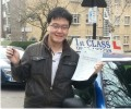 Shing with Driving test pass certificate