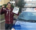 Syed with Driving test pass certificate