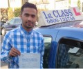 Tipu with Driving test pass certificate