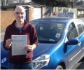 Leonie with Driving test pass certificate