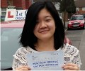 Selina with Driving test pass certificate