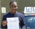Korede with Driving test pass certificate