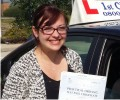 Georgina with Driving test pass certificate