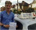 Ciaran with Driving test pass certificate