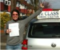 Amandine with Driving test pass certificate