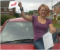 Hayley with Driving test pass certificate
