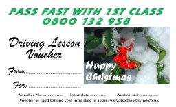 Christmas voucher Holly Snow